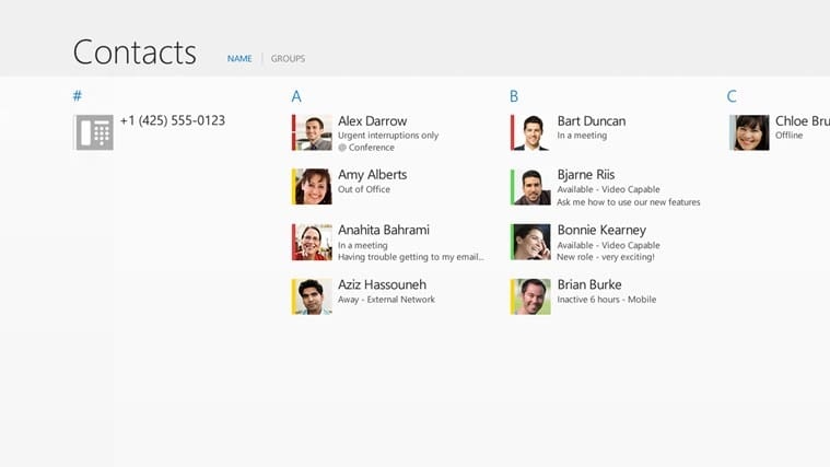 Lync for Windows 10