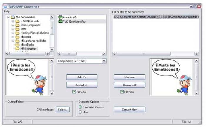 Easy GIF2SWF Converter