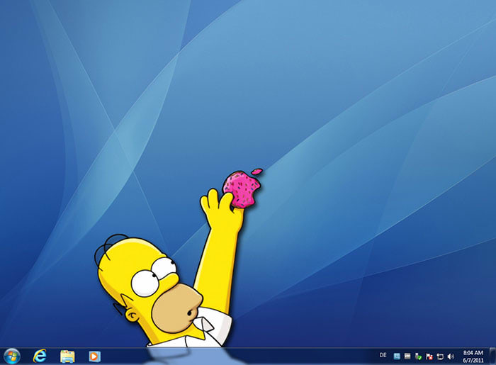 Homer and a Donut Theme