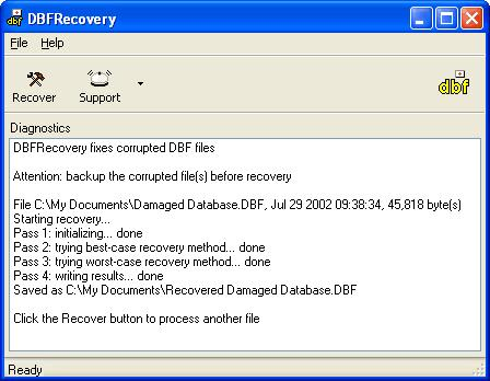 DBFRecovery