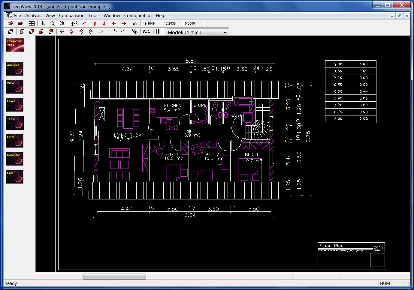 Deep View Free DWG DXF Viewer