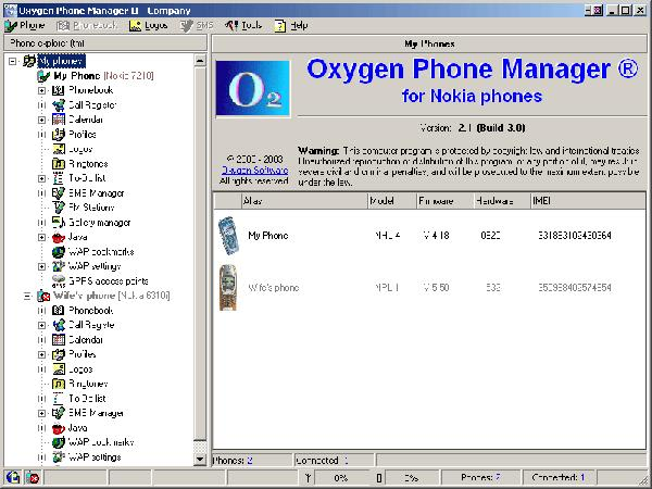 Oxygen Phone Manager II Sprachpaket Deutsch