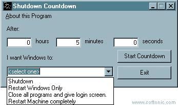 Shutdown Countdown