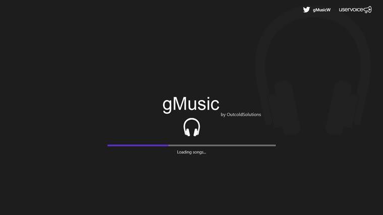 gMusic for Windows 10