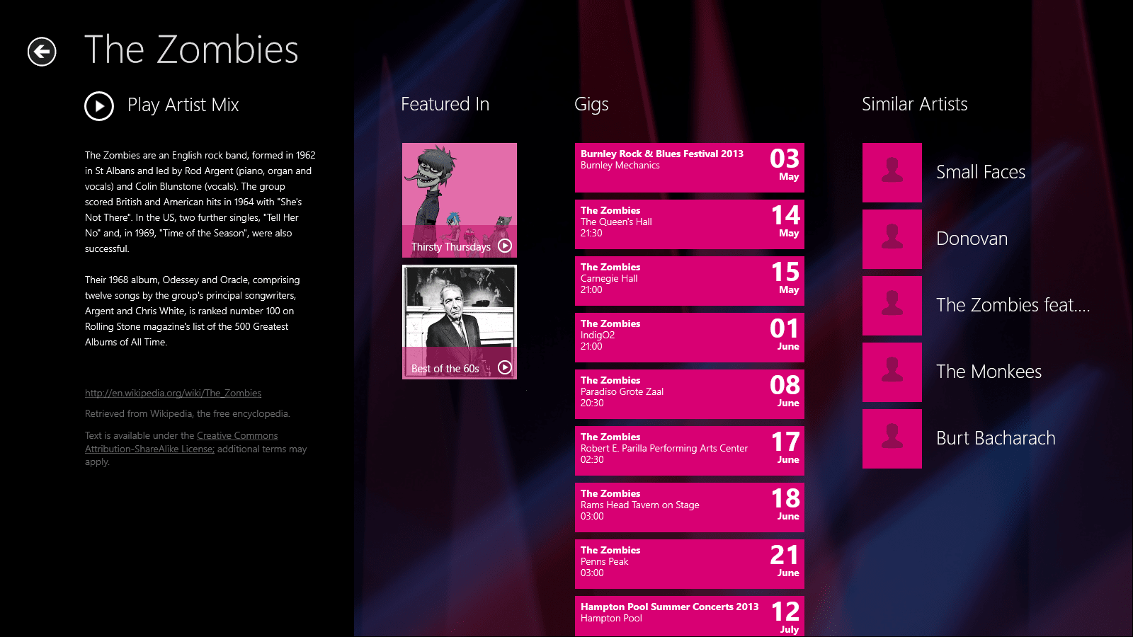 Nokia Music für Windows 10