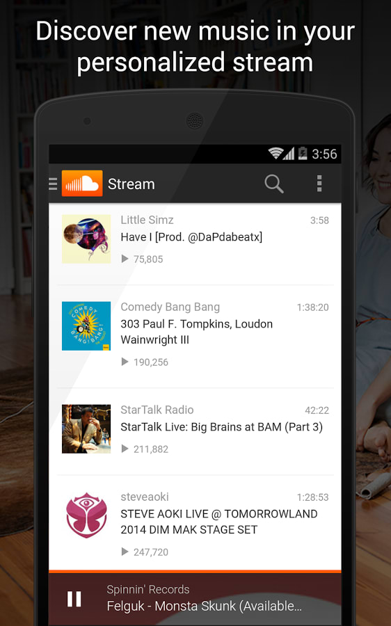 Soundcloud for android download soundcloud is an interesting audio app that allows you to record sounds and share them with a growing community of users view full description soundcloud ccuart Choice Image