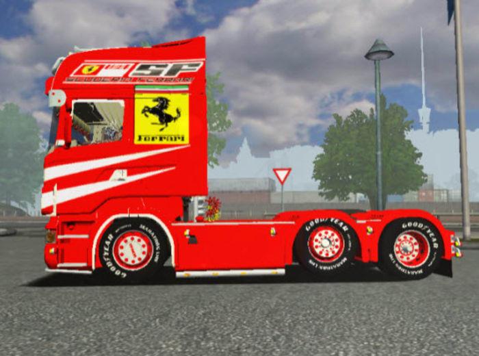 Euro Truck Simulator Scania R500 Ferrari