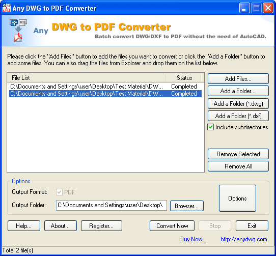 Any DWG to PDF Converter