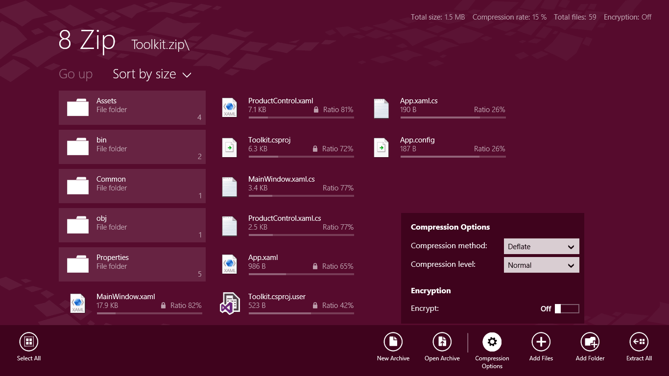 8 Zip for Windows 10