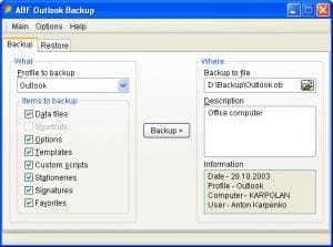 ABF Outlook Backup