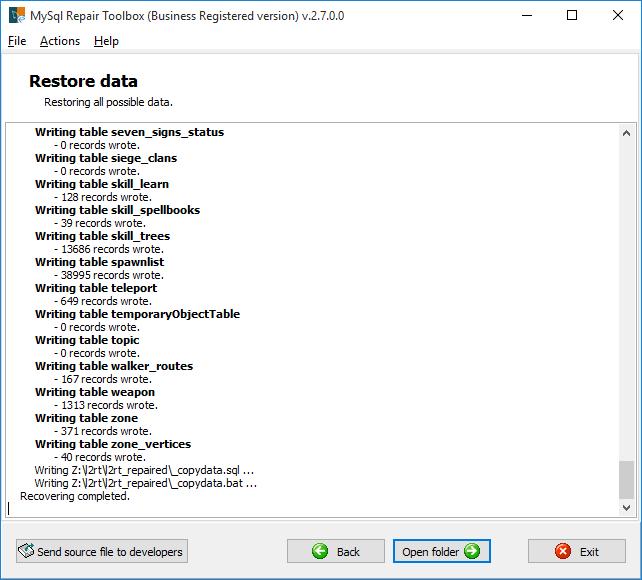 MySQL Repair Toolbox