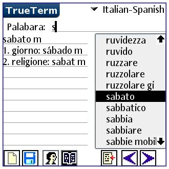 Spanish/Italian-Special PalmOS