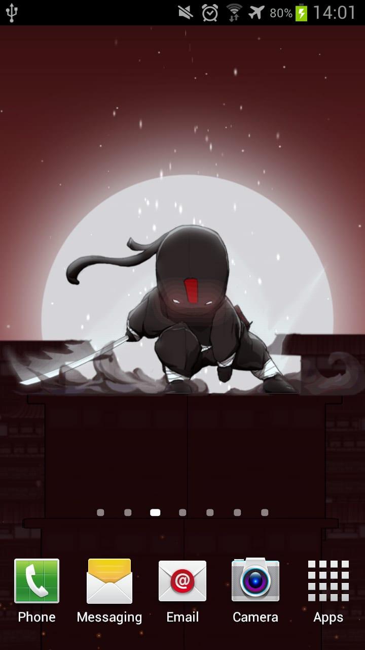 Black Ninja 3D Live Wallpaper