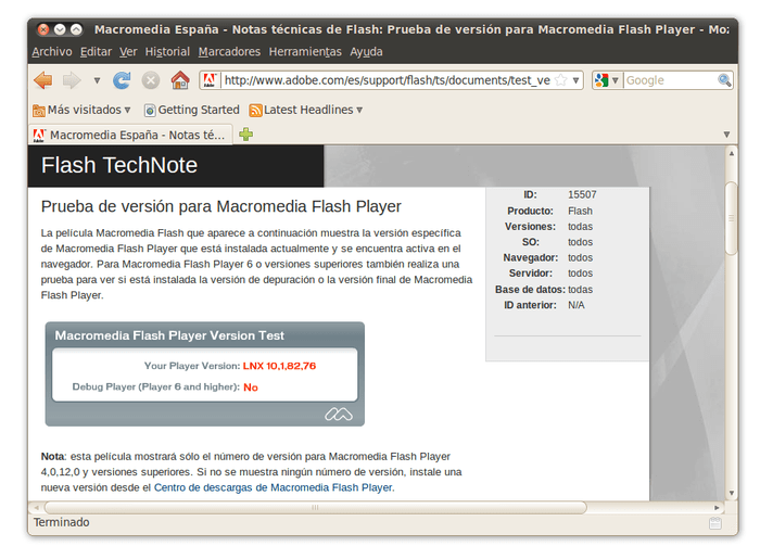 Adobe Flash Player 64-bits