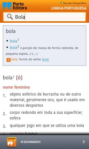 Dicionário Língua Portuguesa