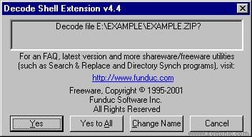 Decode Shell Extension