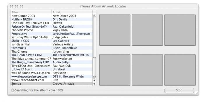 iTunes Album Artwork Locator