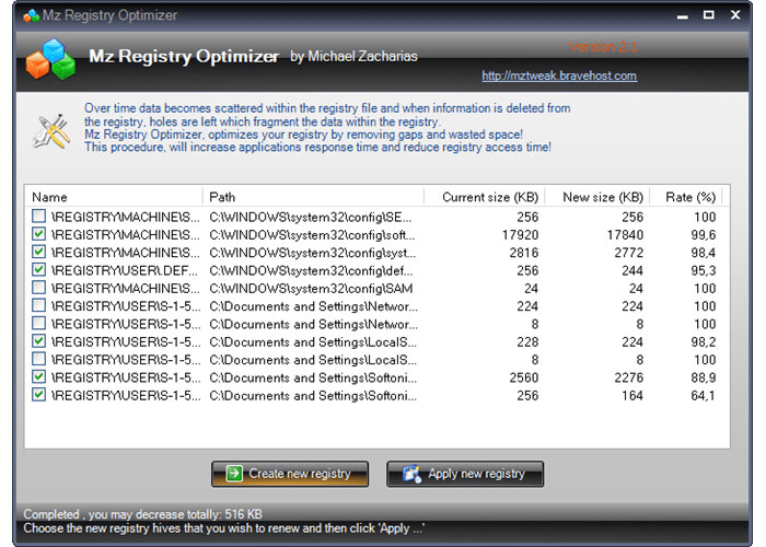 Mz Registry Optimizer
