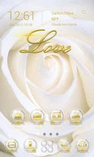 Rose Love GO Launcher Theme