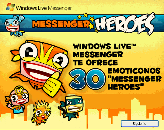 Messenger Heroes Emoticonos