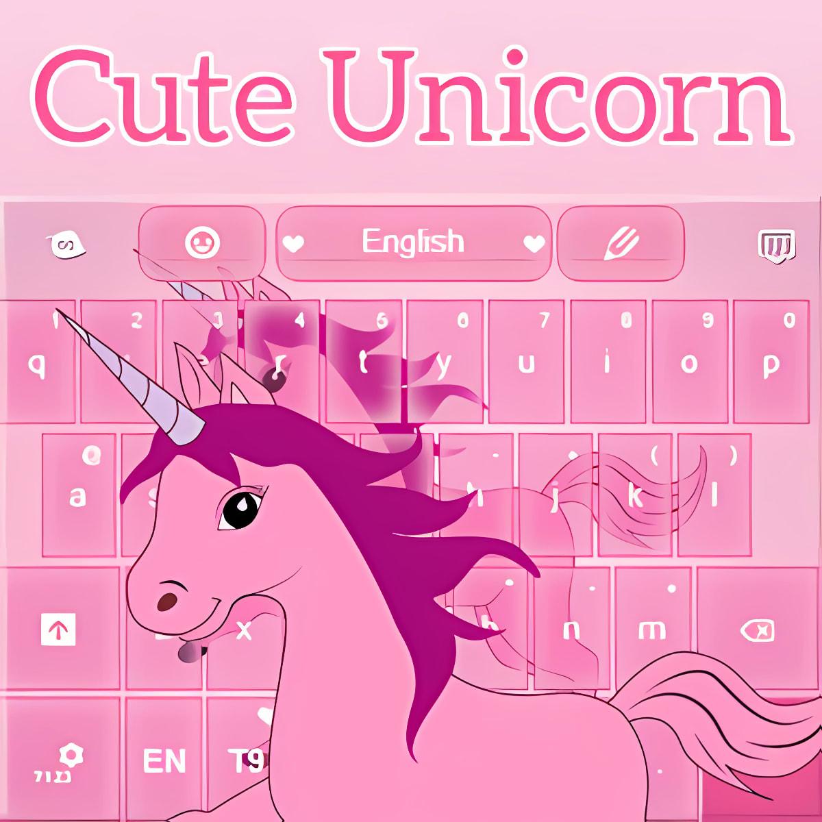 Lindo teclado Unicornio