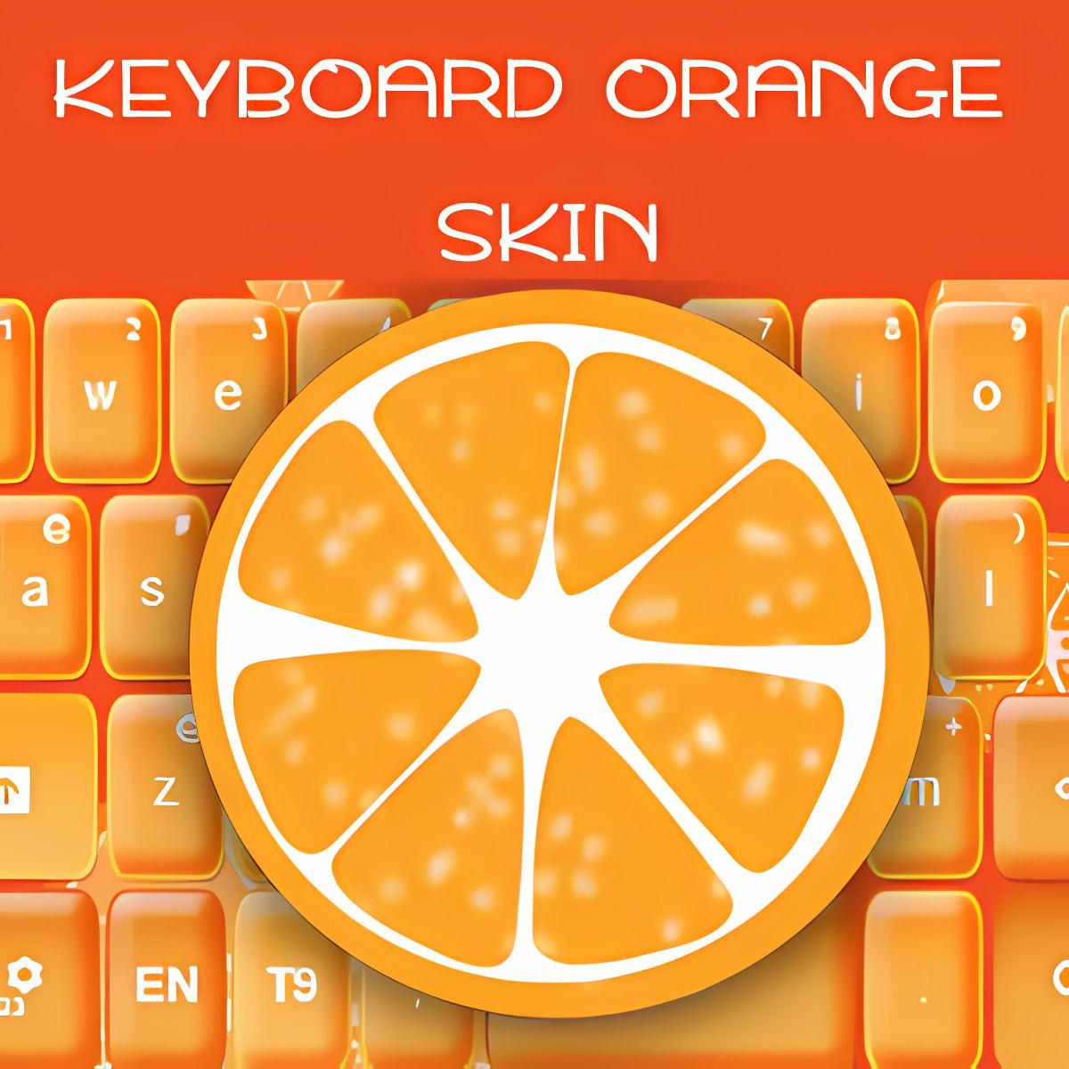 Teclado Naranja Piel