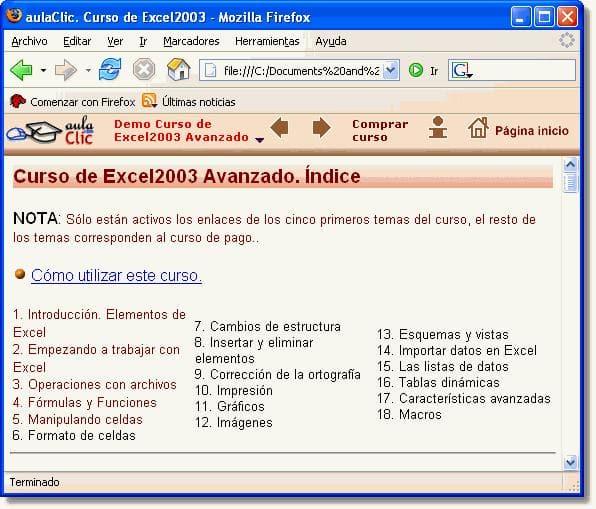 Curso de Excel 2003 Avanzado