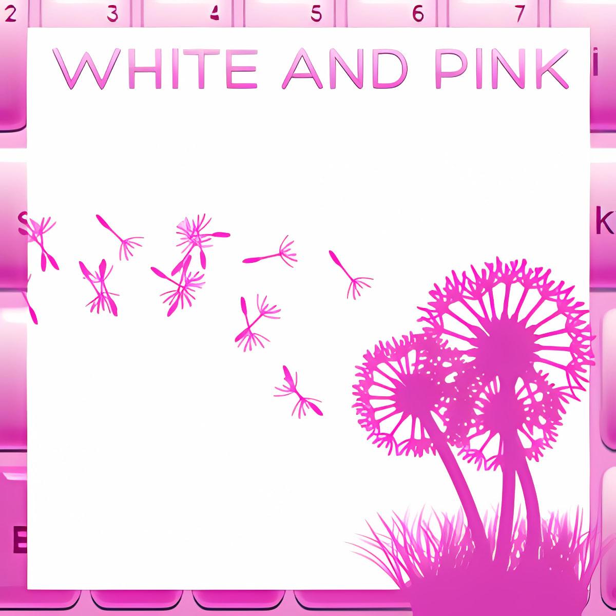 Blanco rosa libre del teclado 3.5