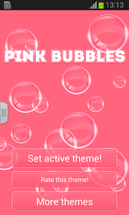 Pink Bubbles GO Keyboard