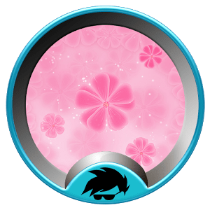 Pink girl GO Launcher Theme 1.66.10.19