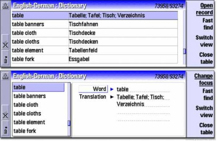 Dictionary PD English/German