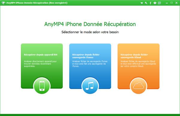 AnyMP4 iPhone Donnée Récupération