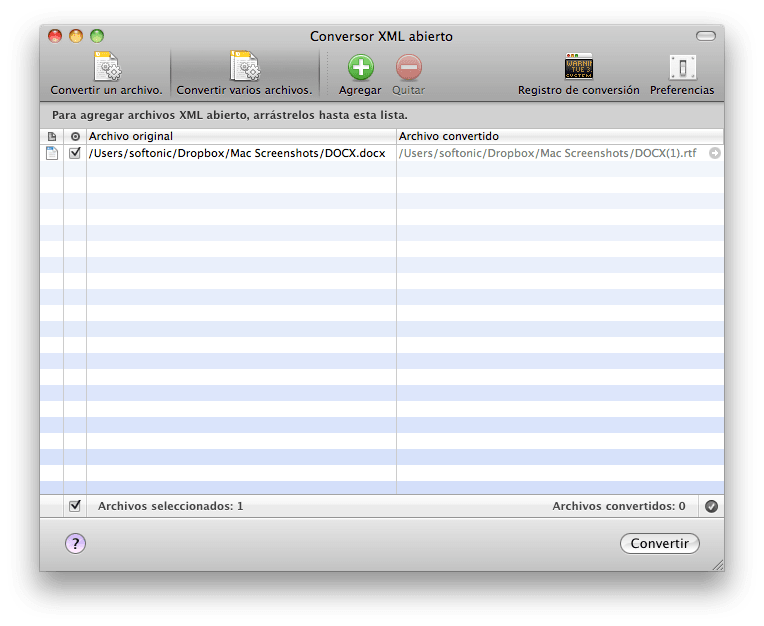 Office Open XML Converter para Mac
