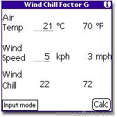Wind Chill Factor G