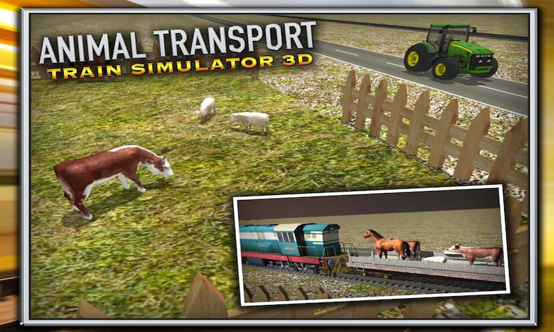 Animal Transport Train Sim 3D