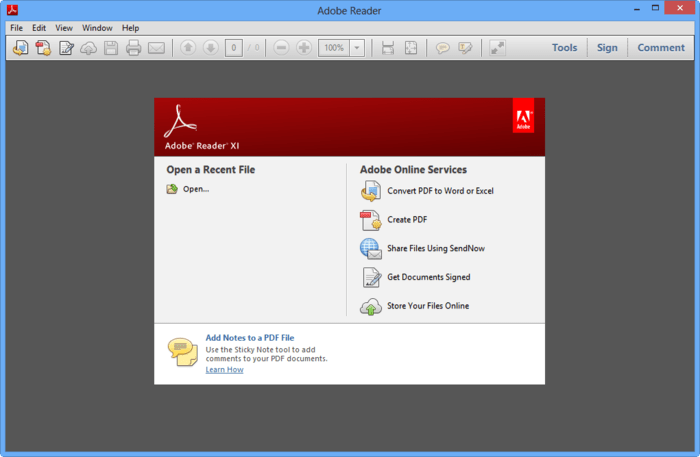 adobe reader xi is the official pdf reader it s integrated with most web browsers and lets you print comment and share documents easily