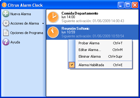 Citrus Alarm Clock
