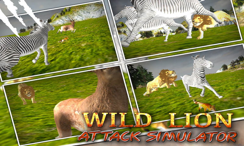 Wild Lion Attack Simulator 3D