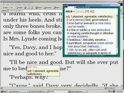 Text-Reader Dictionary