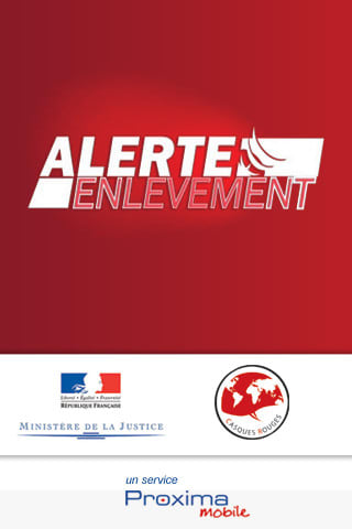 Application Alerte Enlèvement