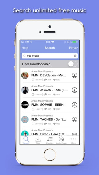 Free Music MP3 Downloader iPhone