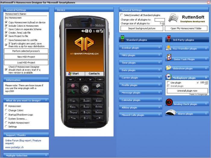 Homescreen Designer for Windows Mobile - Download