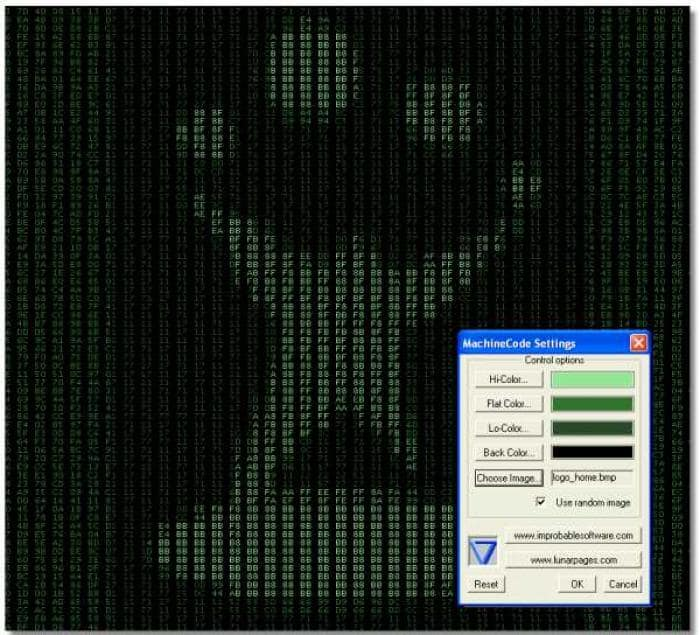 Machinecode Screensaver