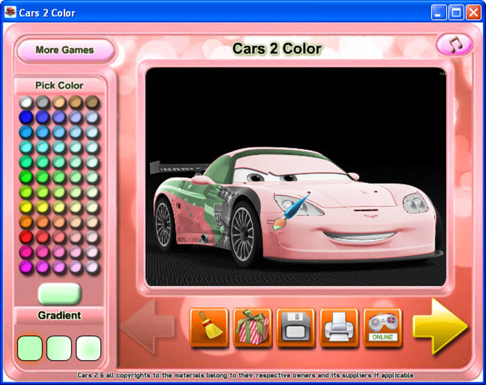 Worksheet. Cars 2 Color  Descargar
