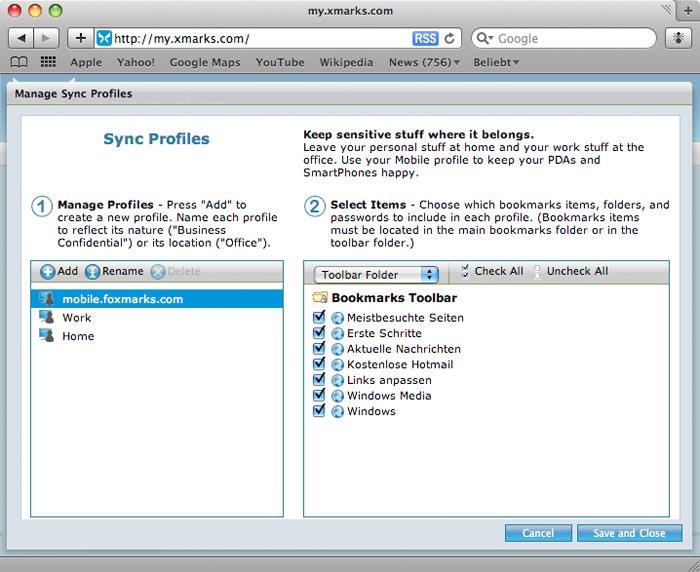 Xmarks Bookmark Synchronizer