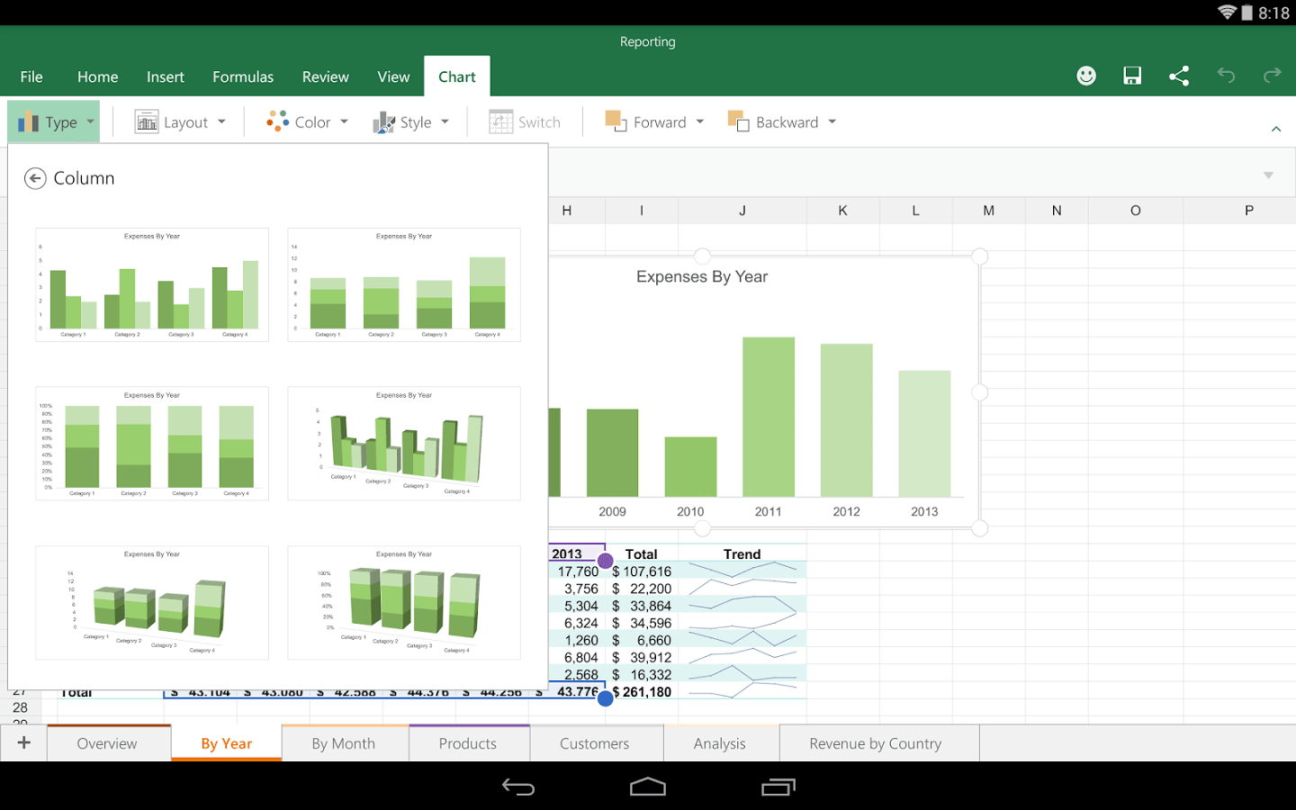 Microsoft Excel For Android