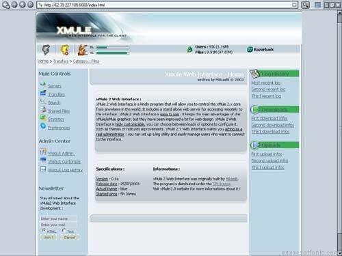 ShareDaemon P2P Client wxInterface