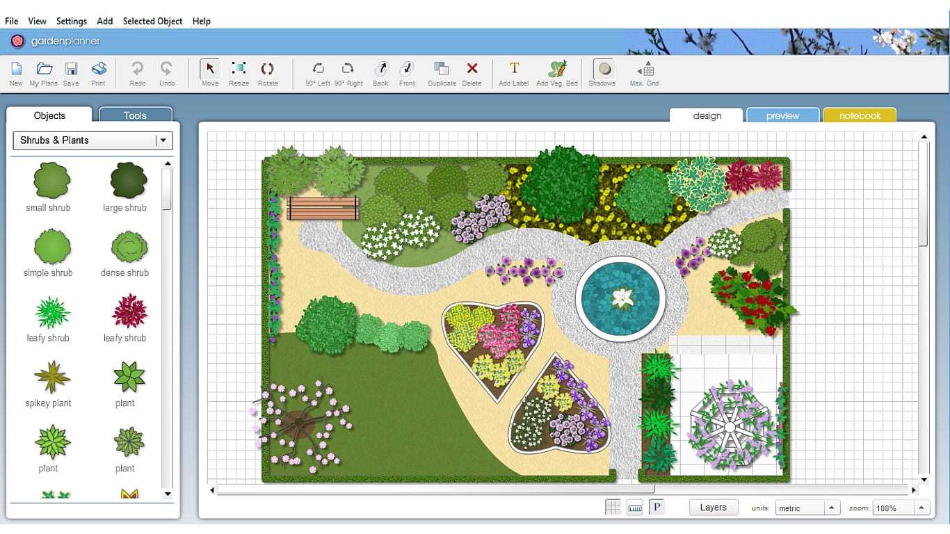 Garden planner 3 download for Virtual garden design