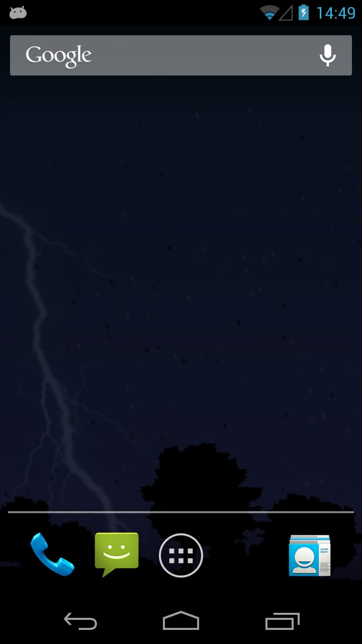 Lightning Bolt Live Wallpaper
