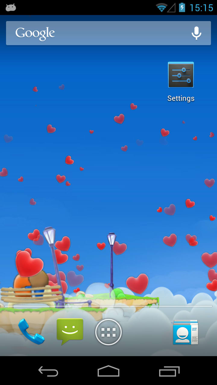 Love Hearts 3D Live Wallpaper